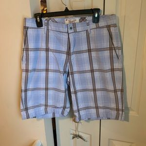 Penguin blue plaid shorts size 33